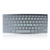 12 inch Aluminum BT Wireless Mini Slim Keyboard For Android Tablet PC White