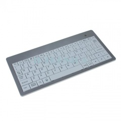 7 inch Aluminum Rechargeable BT Wireless Mini Slim Keyboard For Android Tablet PC White